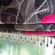 Black bead trim