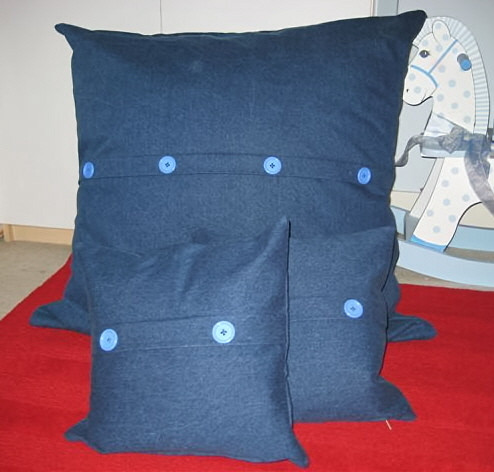 Scatter cushions with button detail