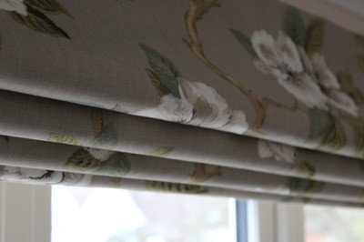 Traditional floral fabric blind