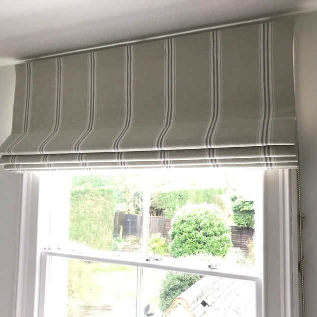 Bedroom blind on a traditional sash window