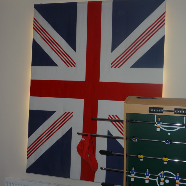 Union Jack blind (down)