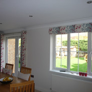 Matching kitchen diner eyelet curtains & blind