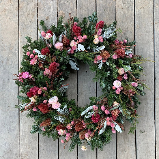 Pink Florals Wreath