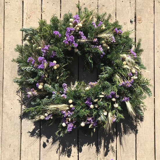 Purple Florals Wreath