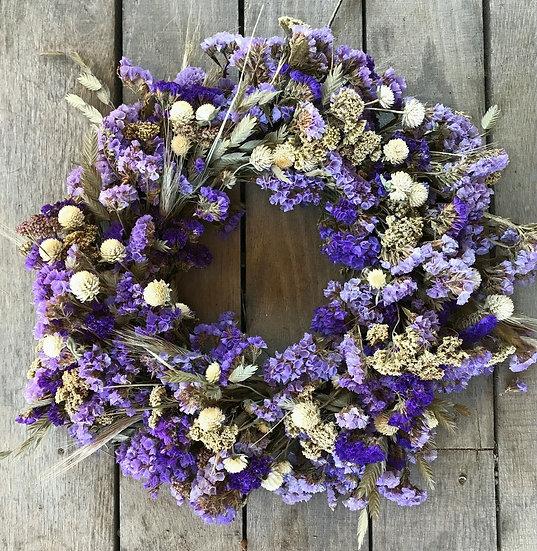 Purple Dried Flower Wreath