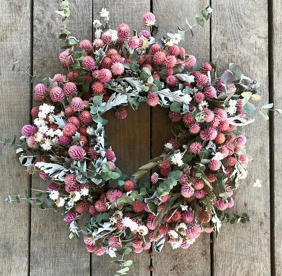 Pink Dried Flower Wreath