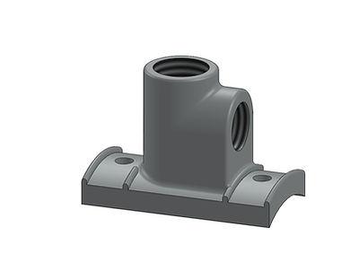 pole plate hub with bottom hole