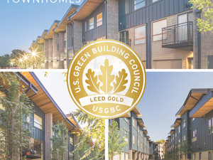 Ash + River Townhomes Achieve LEED Gold