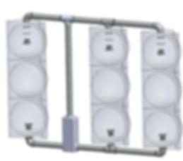 SV-3-T caltrans signal framework 3 heads inline