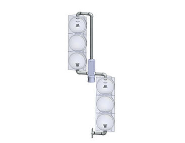 LT-2-T caltrans signal mount, left turn vehicular mount with terminal compartment