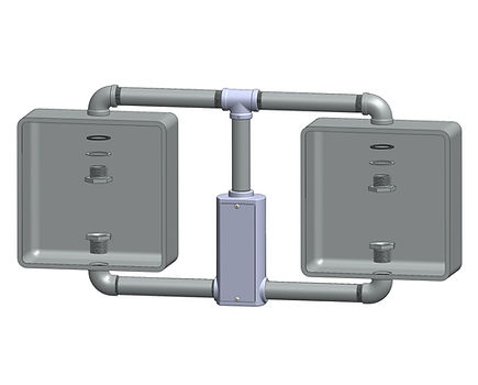 SP-2-T side mounted pedestrian signal 2 face caltrans framework