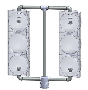 TV-2 top mounted vehicular signal 2 face signal framework stop light
