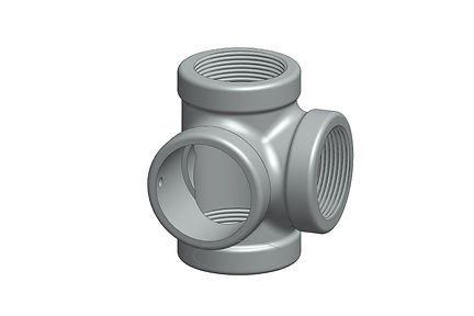 tee with reamed side outlet pipe fitting