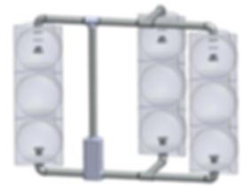 SV-3-TB caltrans signal framework 2 head inline 1 head BOD