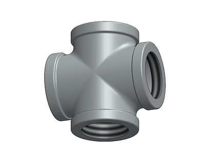 "standard cross NPT 1-1/2"" pipe fitting aluminum iron"