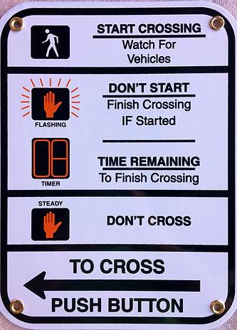 "R10-3E 9x12"" pedestrian crosswalk sign"