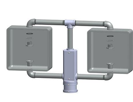 TP-2-T caltrans signal framework top mounted pedestrian light