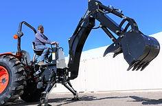 (Large) Kioti DK55 Tractor Loader Backho