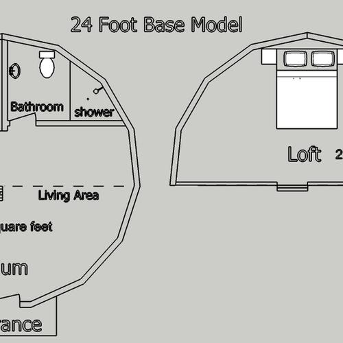 24 foot dome base plan