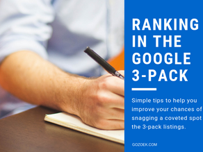 Ranking in the Google 3-Pack