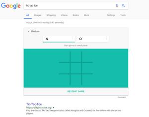 Google's Tic Tac Toe trick