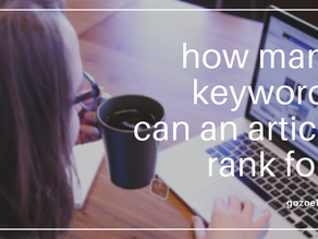 How Many Keywords Can an Article Rank For?