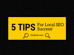 5 Tips for Local SEO Success