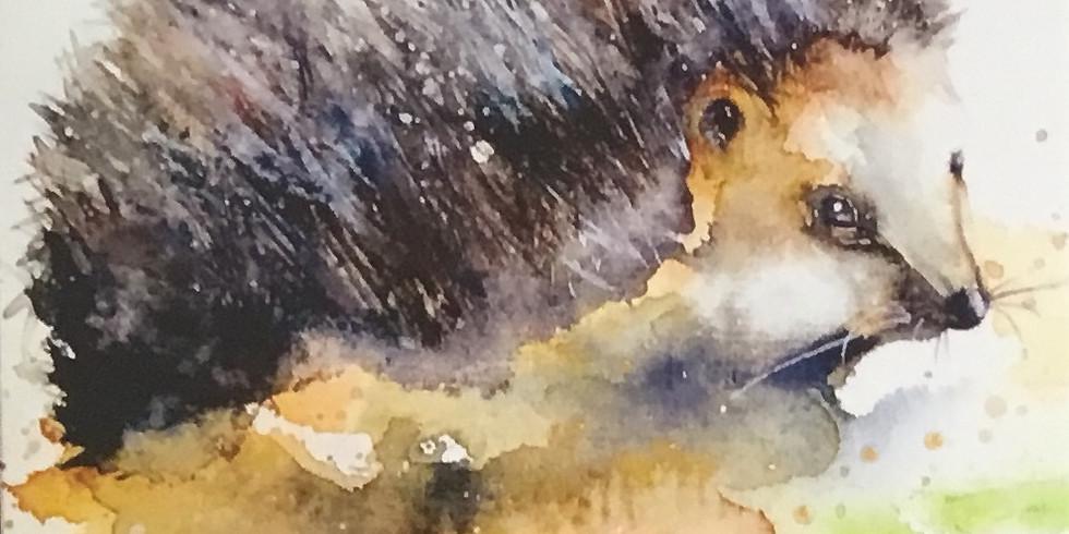 Mr Hedgehog Watercolour Painting Workshop