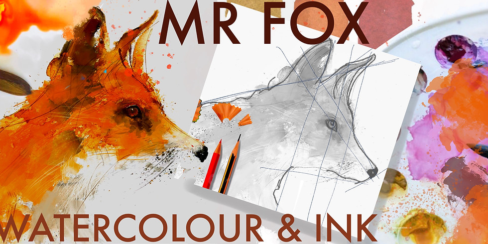 Junior Art Workshop - Fox - Pencil Watercolour Ink (age 11-15)