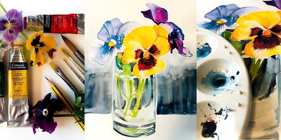 Pansies Watercolour Workshop