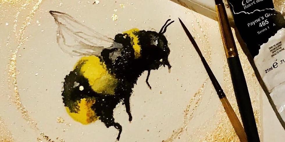Family Watercolour Workshop Bumblebee