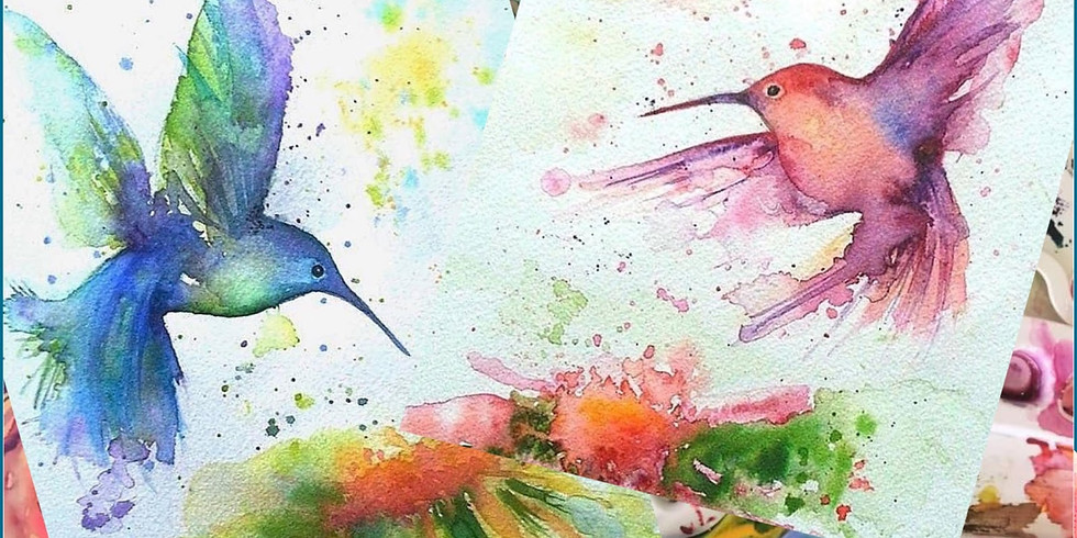 Watercolour Hummingbird