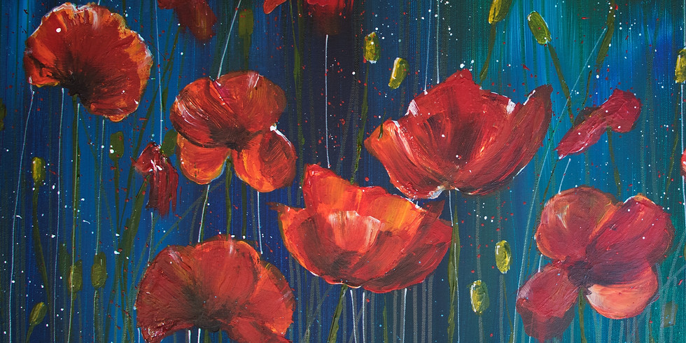Poppies Acrylic Painting Workshop