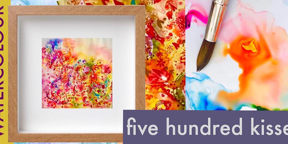 Five Hundred Kisses - Watercolour & Metallic Ink
