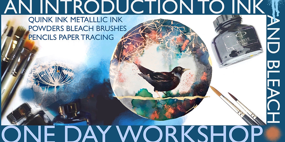One Day Ink and Bleach Workshop - Blackbird Song