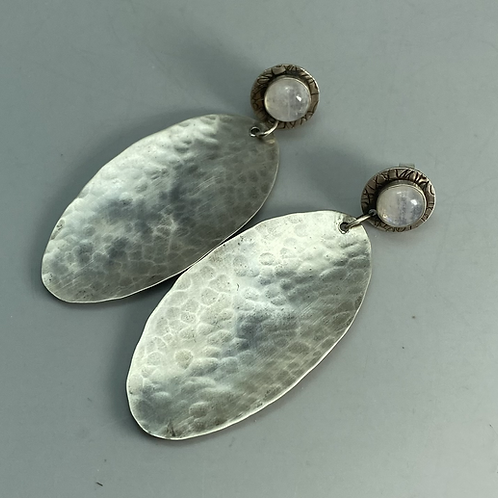 Large oval dangle earrings
