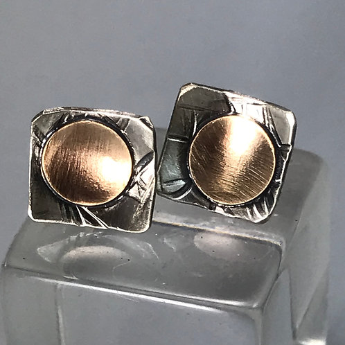 Smal Sterling and Gold Studs
