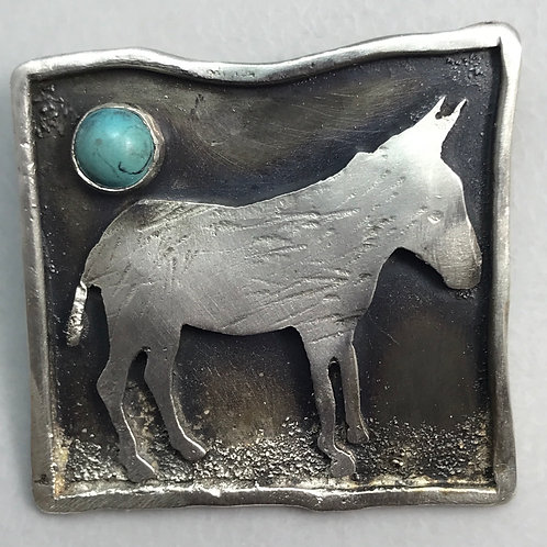 Donkey Pin with turquoise