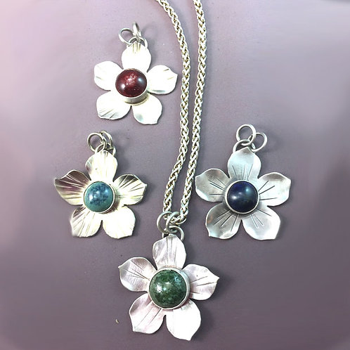 Five Petal Pendant on neckwire