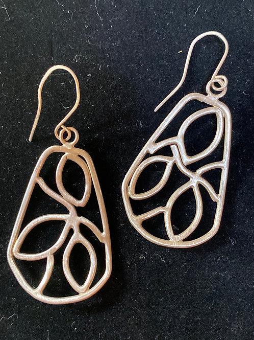 Silver Vine Earrings-medium
