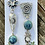 Thumbnail: Turquoise  with cobalt mismatch earrings