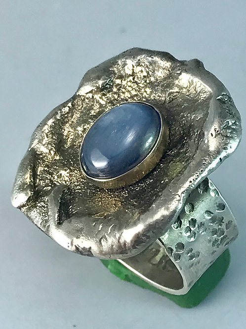 Sterling Silver Ring-Adjustable with Kyanite