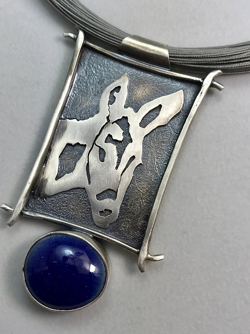 DONKEY necklace with Blue