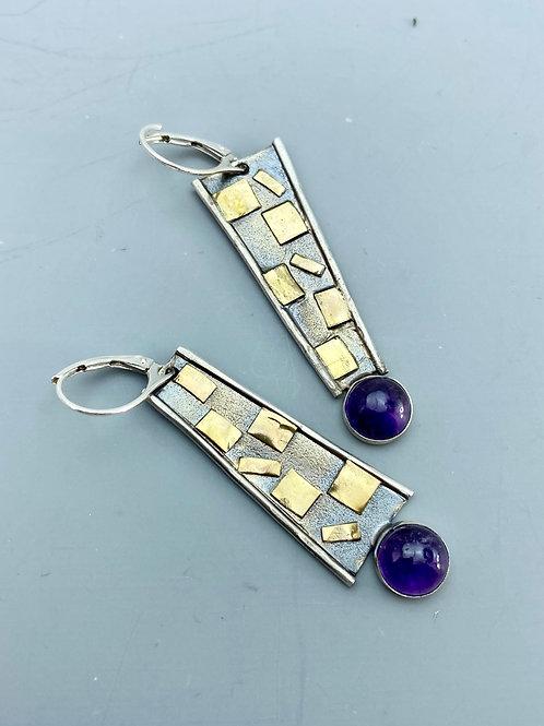 Amethyst Mosaic Earrings