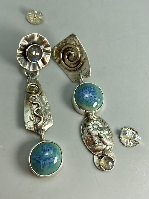 Turquoise Mist Mismstch earrings