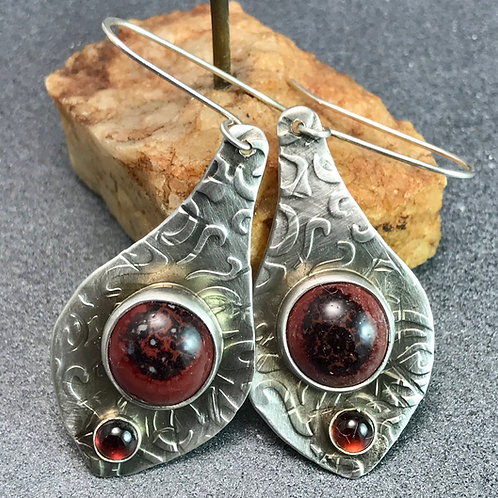 Peachbloom Textured Earrings