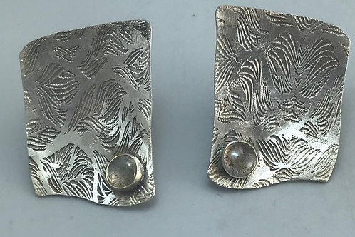 Alicia Etched Earrings-labradorite