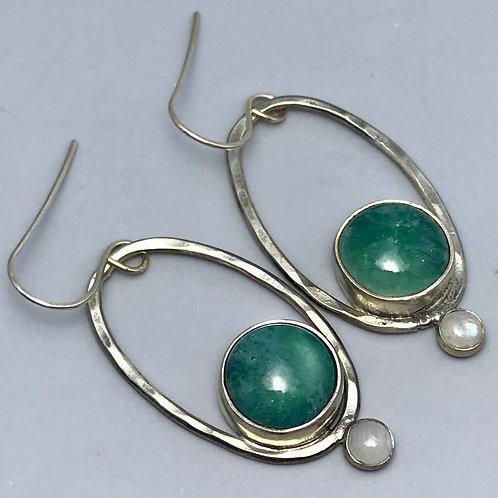 Long Oval Hoops-turquoise