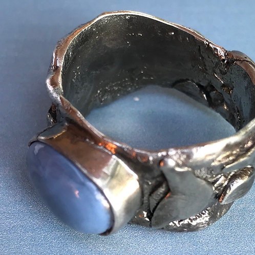 Unisex Ring with Owyhee Opal