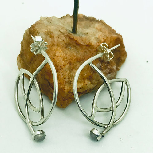 Moonstone Hoops earrings